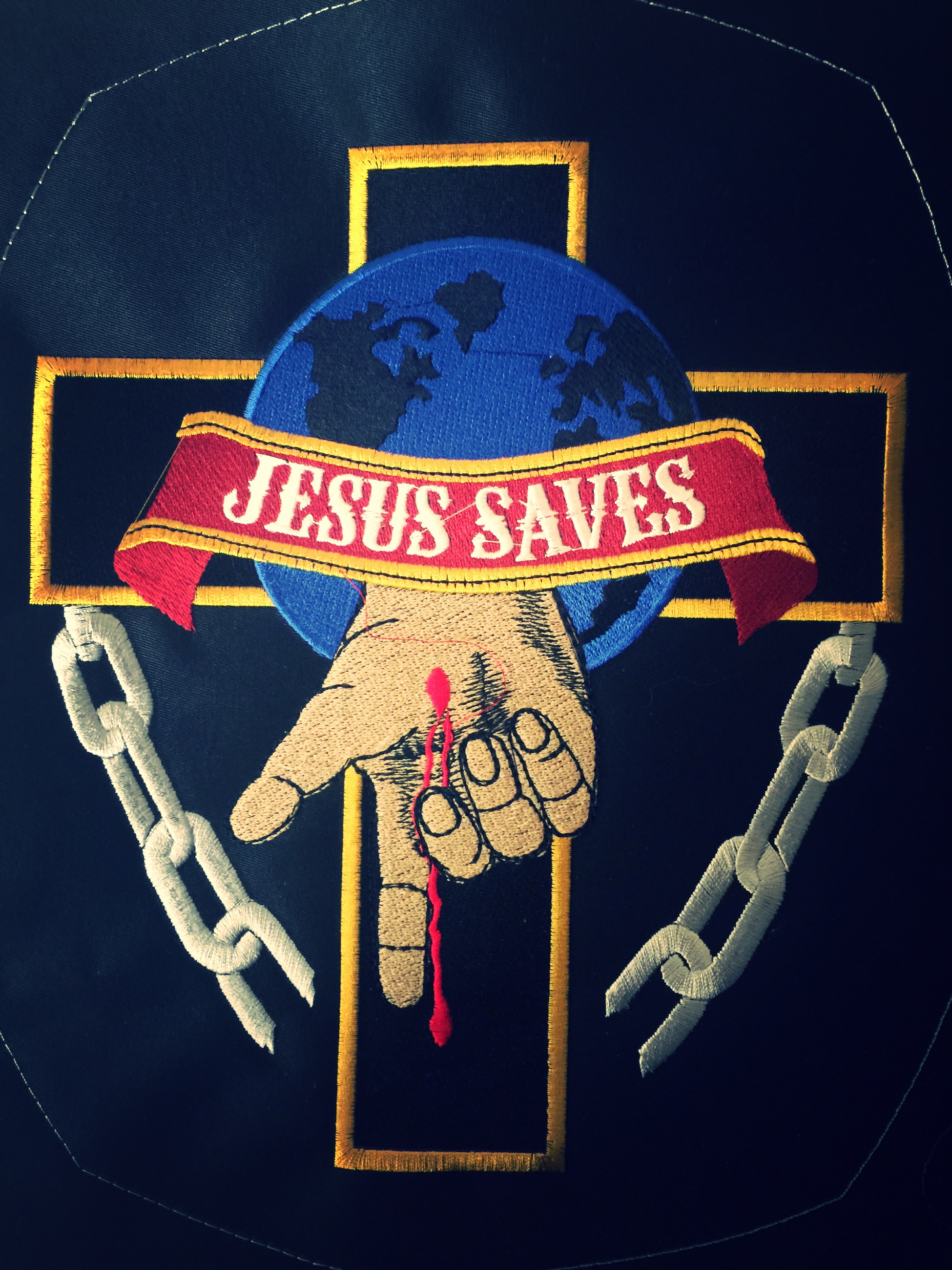Polar Bell Jesus Biker Patch