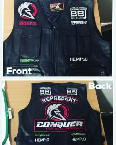 Polar Bell Embroidery Vest Patches